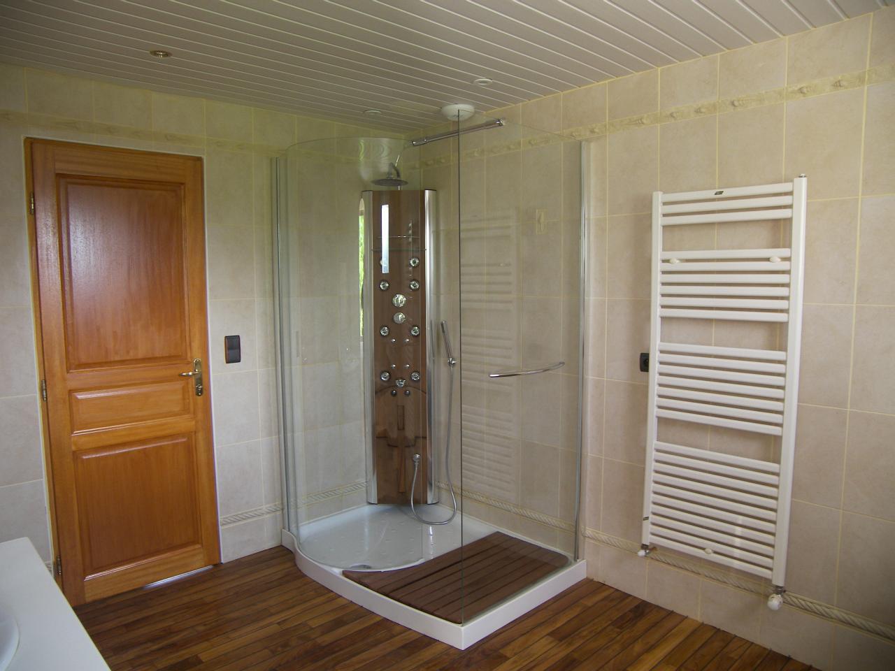 Salle de bain avec jacuzzi et douche for Salle de bain avec jacuzzi et douche